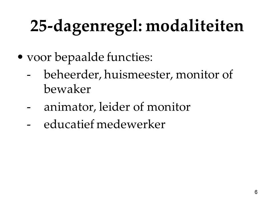 27 Freelancers: statuut Zelfstandige in bijberoep: –Aansluiting bij sociaal verzekeringsfonds –Sociale bijdragen betalen Uitz: referentie-inkomen < 1233,14 euro (bedrag 2007) –Geen sociale rechten in het zelfst.