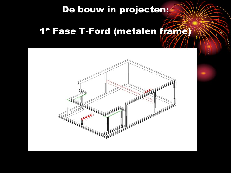De bouw in projecten: 1 e Fase T-Ford (metalen frame)