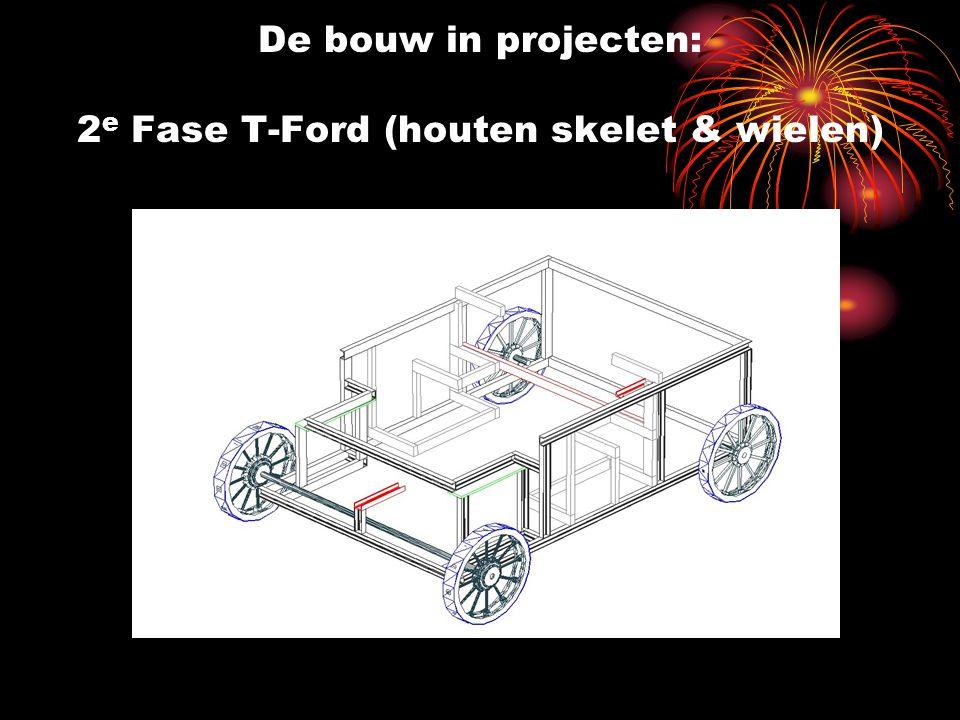 De bouw in projecten: 2 e Fase T-Ford (houten skelet & wielen)