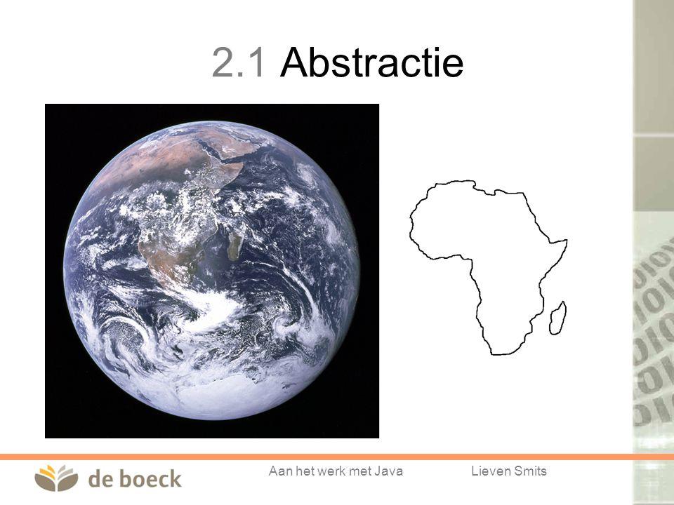 Aan het werk met JavaLieven Smits 2.1 Abstractie