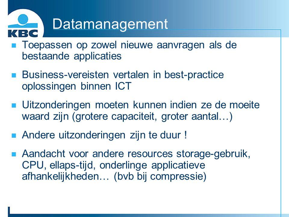Datamanagement Toepassen op zowel nieuwe aanvragen als de bestaande applicaties Business-vereisten vertalen in best-practice oplossingen binnen ICT Ui
