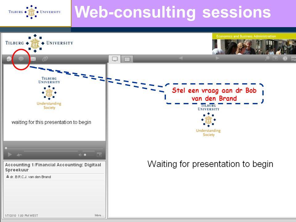Stel een vraag aan dr Bob van den Brand Web-consulting sessions