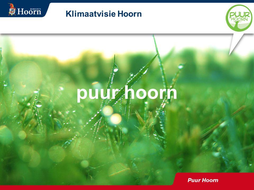 Puur Hoorn Klimaatvisie Hoorn puur hoorn