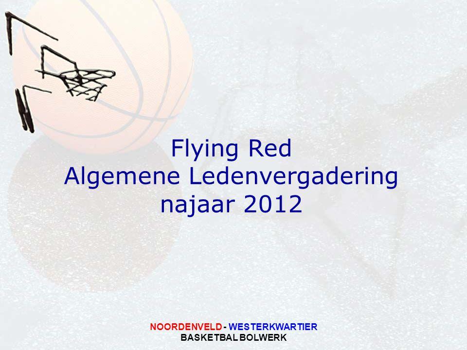 NOORDENVELD - WESTERKWARTIER BASKETBAL BOLWERK Flying Red Algemene Ledenvergadering najaar 2012