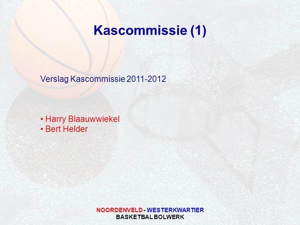 NOORDENVELD - WESTERKWARTIER BASKETBAL BOLWERK Kascommissie (1) Verslag Kascommissie 2011-2012 Harry Blaauwwiekel Bert Helder
