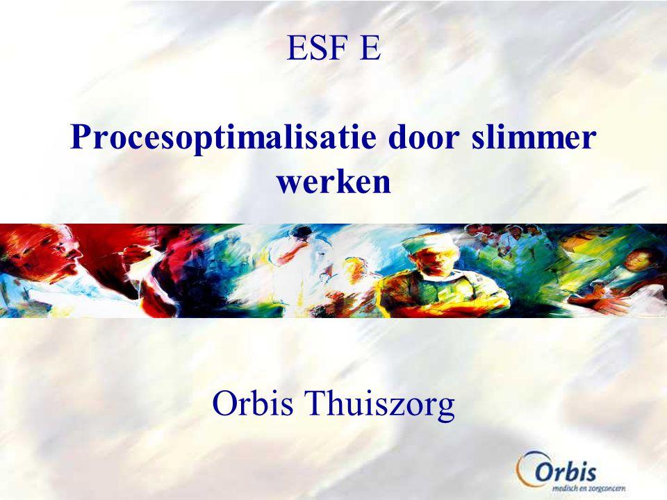 ESF E Procesoptimalisatie door slimmer werken Orbis Thuiszorg