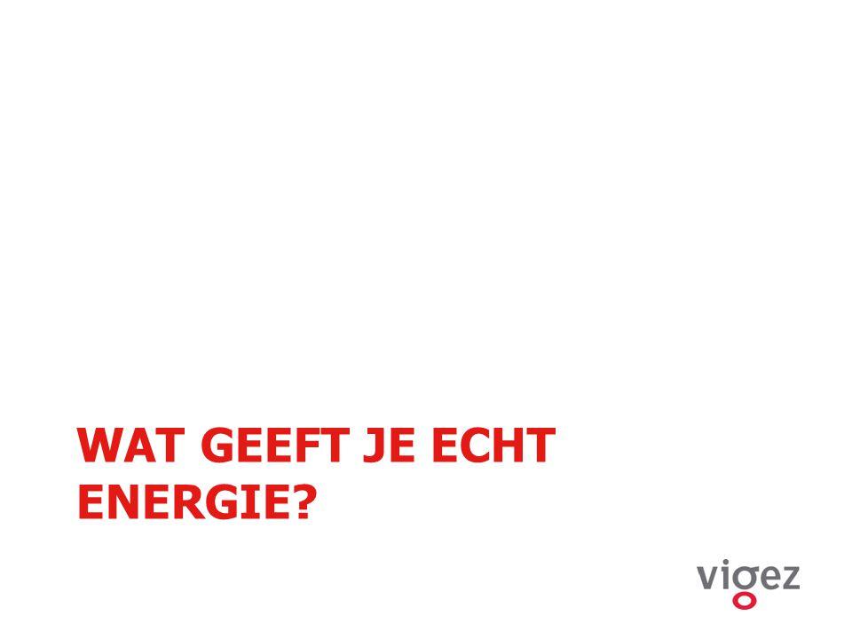 WAT GEEFT JE ECHT ENERGIE?