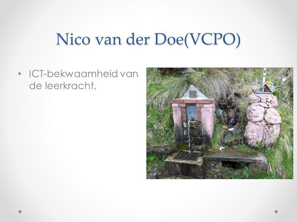 Nico van der Doe(VCPO) ICT-bekwaamheid van de leerkracht.