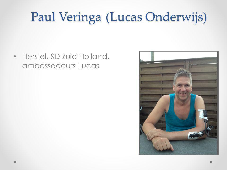 Paul Veringa (Lucas Onderwijs) Herstel, SD Zuid Holland, ambassadeurs Lucas