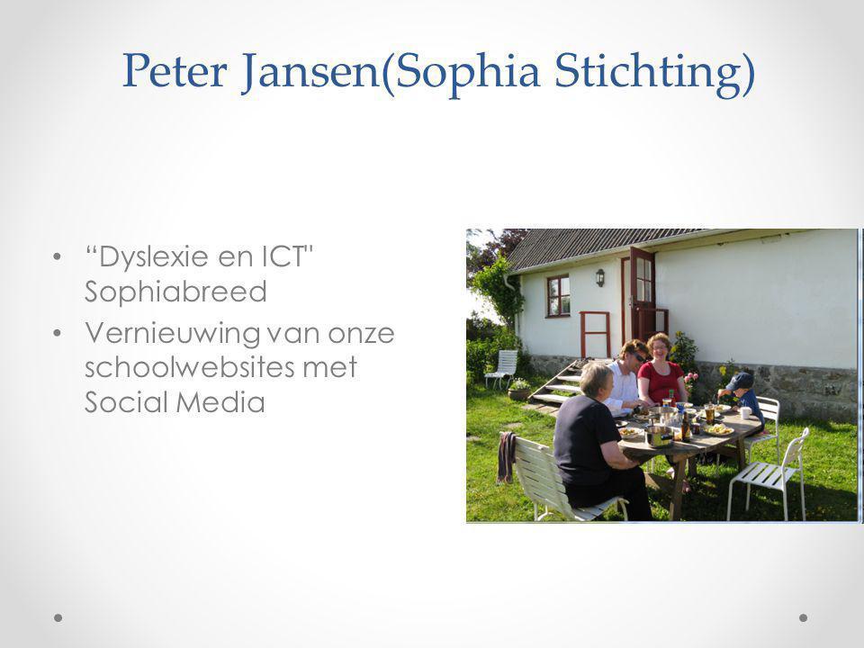 "Peter Jansen(Sophia Stichting) ""Dyslexie en ICT"