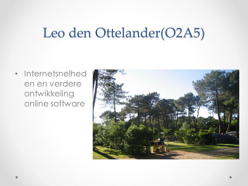 Leo den Ottelander(O2A5) Internetsnelhed en en verdere ontwikkeling online software