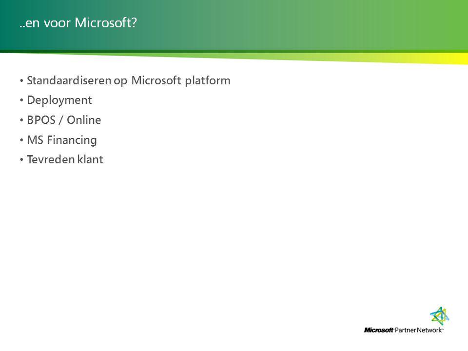..en voor Microsoft.