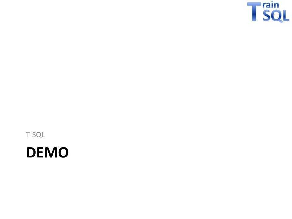 DEMO T-SQL
