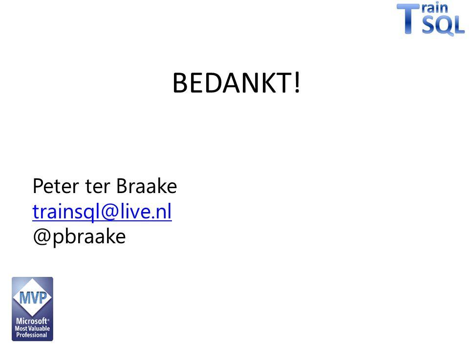 trainsql@live.nl @pbraake BEDANKT!