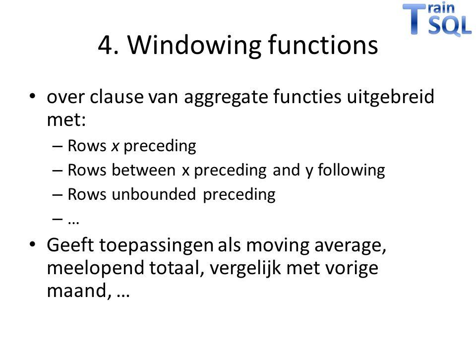 DEMO Windowing functions