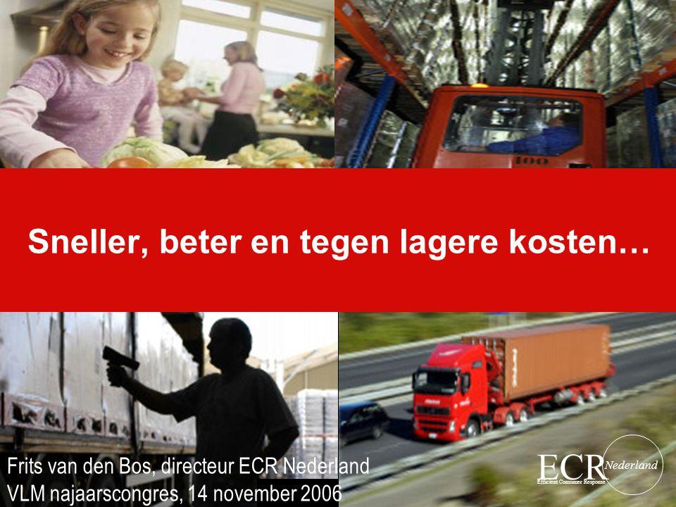 ECR Efficient Consumer Response Nederland Sneller, beter en tegen lagere kosten… Frits van den Bos, directeur ECR Nederland VLM najaarscongres, 14 nov