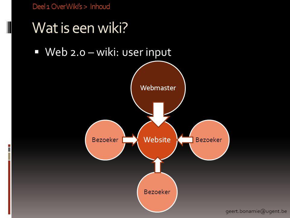 Wat is een wiki.