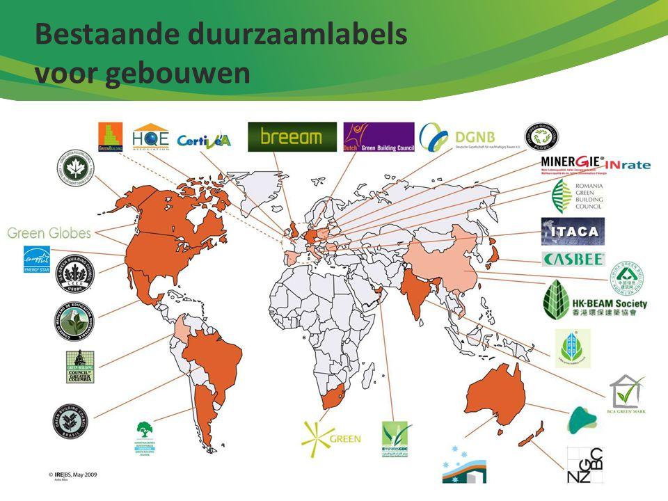 Bestaande duurzaamlabels voor gebouwen