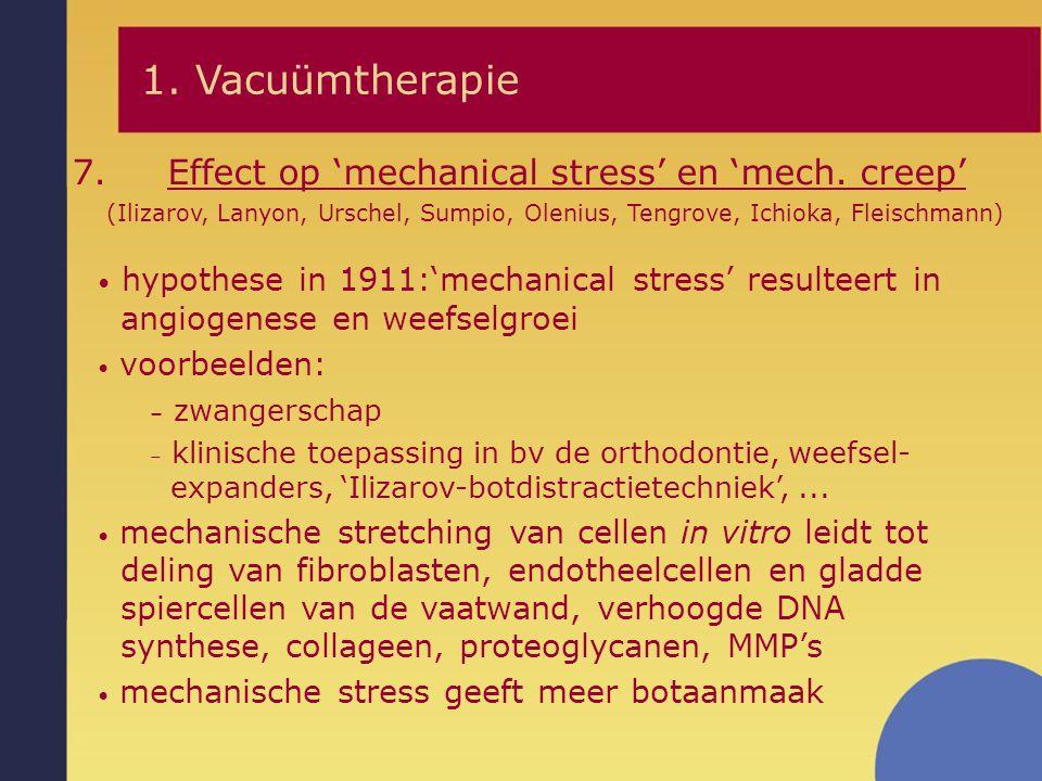 hypothese in 1911:'mechanical stress' resulteert in angiogenese en weefselgroei voorbeelden: – zwangerschap – klinische toepassing in bv de orthodonti