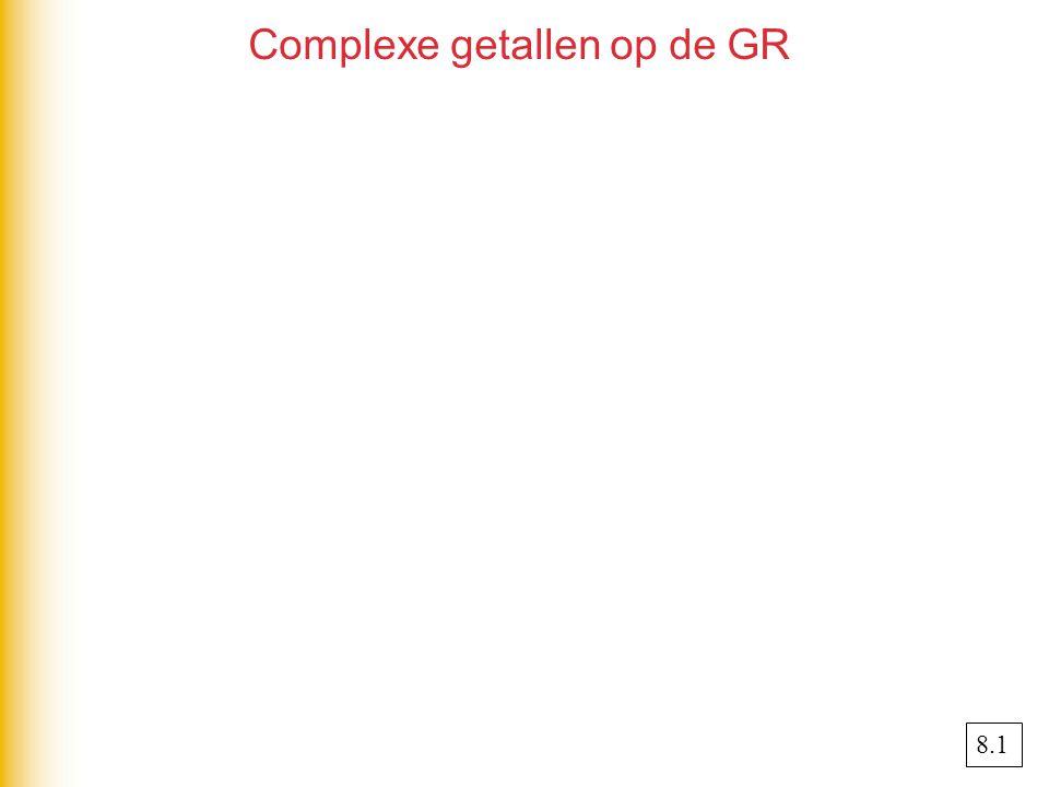Complexe getallen op de GR 8.1