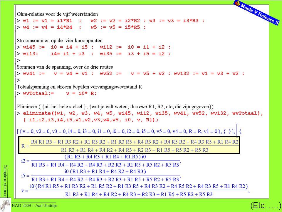 Complexe stromen NWD 2009 – Aad Goddijn 22 (Etc. ….)