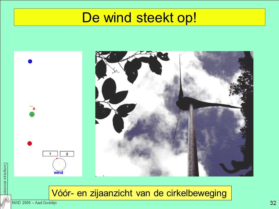 Complexe stromen NWD 2009 – Aad Goddijn 32 De wind steekt op.