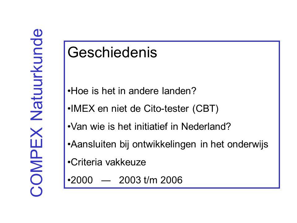 COMPEX Natuurkunde Geschiedenis Hoe is het in andere landen.