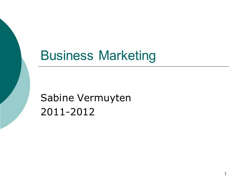 Praktische afspraken  Handboek: Business Marketing Management, W.