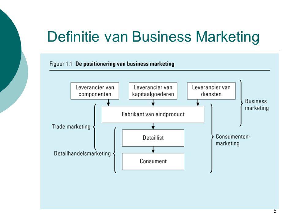 5 Definitie van Business Marketing