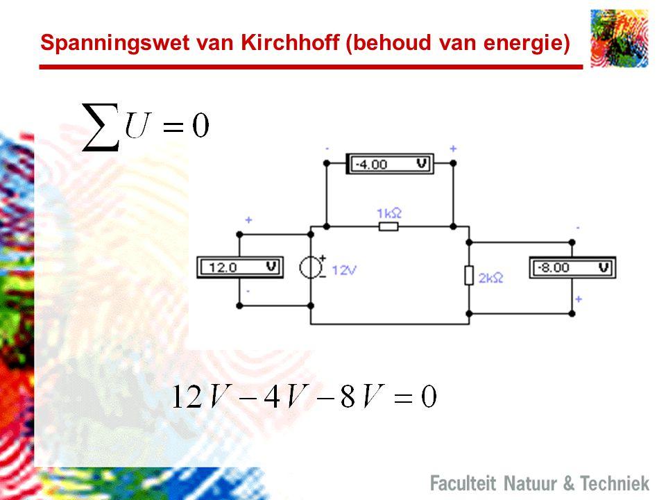 Spanningswet van Kirchhoff (behoud van energie)