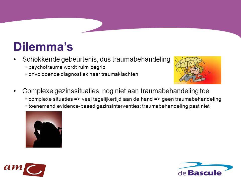 Inhoud definitie ingrijpende en traumatische gebeurtenis prevalentie effecten ingrijpende gebeurtenissen complexe gezinssituaties veiligheid gezinsinterventies traumadiagnostiek traumabehandeling individueel - groep fasegericht: stabilisatie - verwerking - integratie
