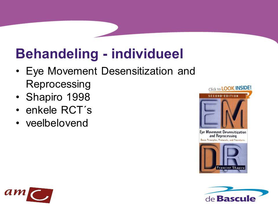 Behandeling - individueel Eye Movement Desensitization and Reprocessing Shapiro 1998 enkele RCT´s veelbelovend