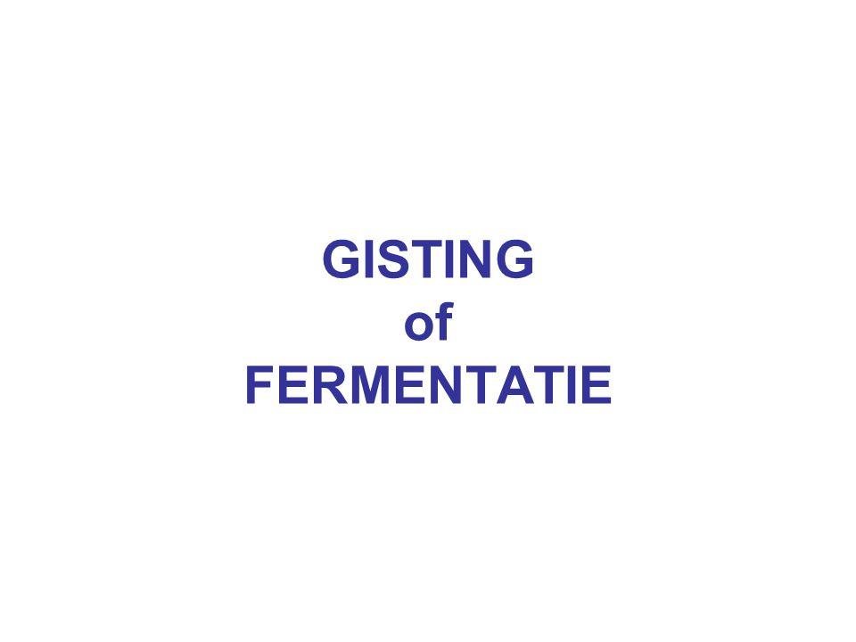 GISTING of FERMENTATIE