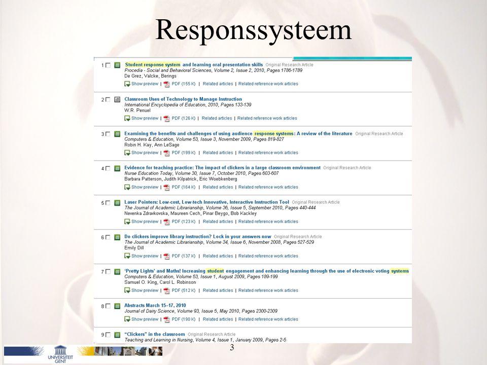 Responssysteem 3