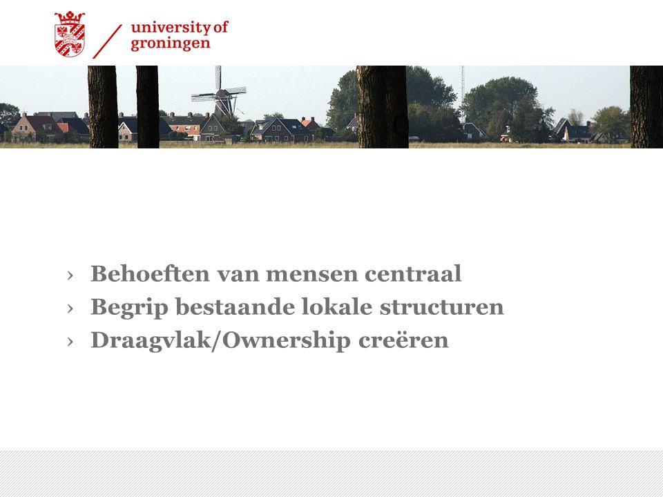 ›Behoeften van mensen centraal ›Begrip bestaande lokale structuren ›Draagvlak/Ownership creëren 7/15/2014 | 14