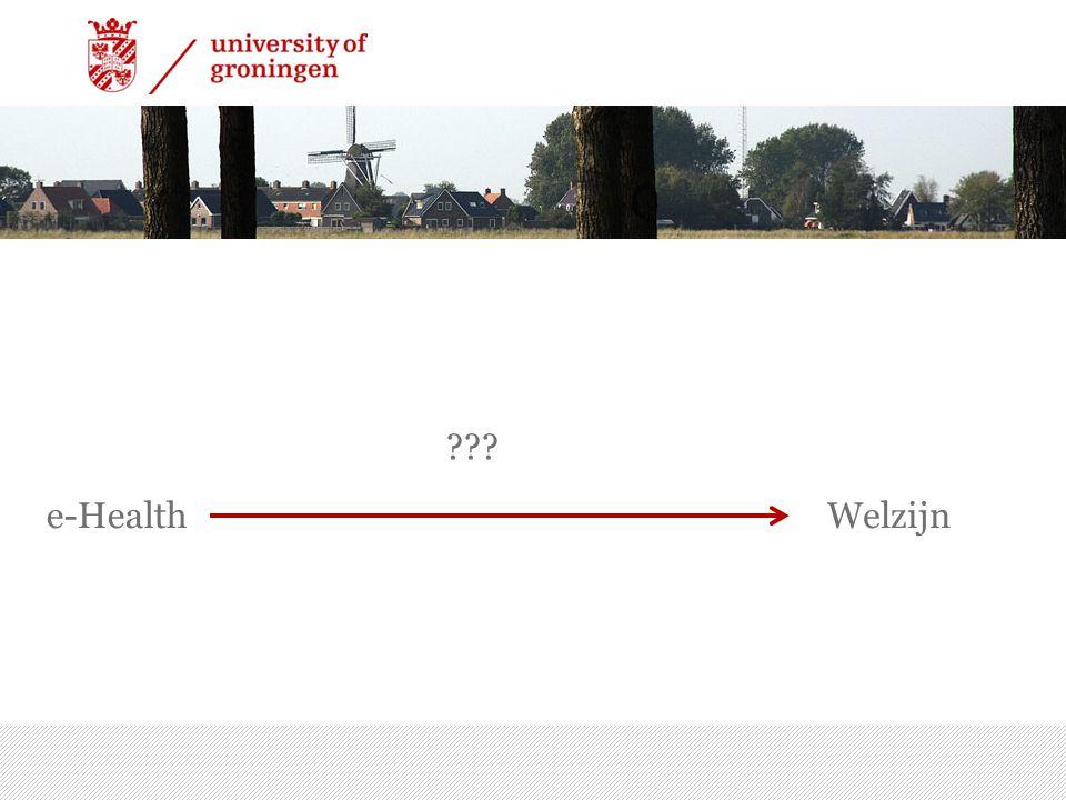 e-Health 7/15/2014 | 6 Welzijn