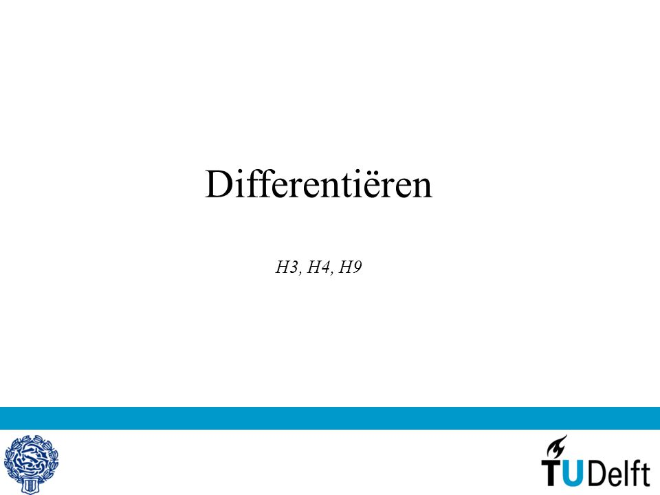 Differentiëren H3, H4, H9
