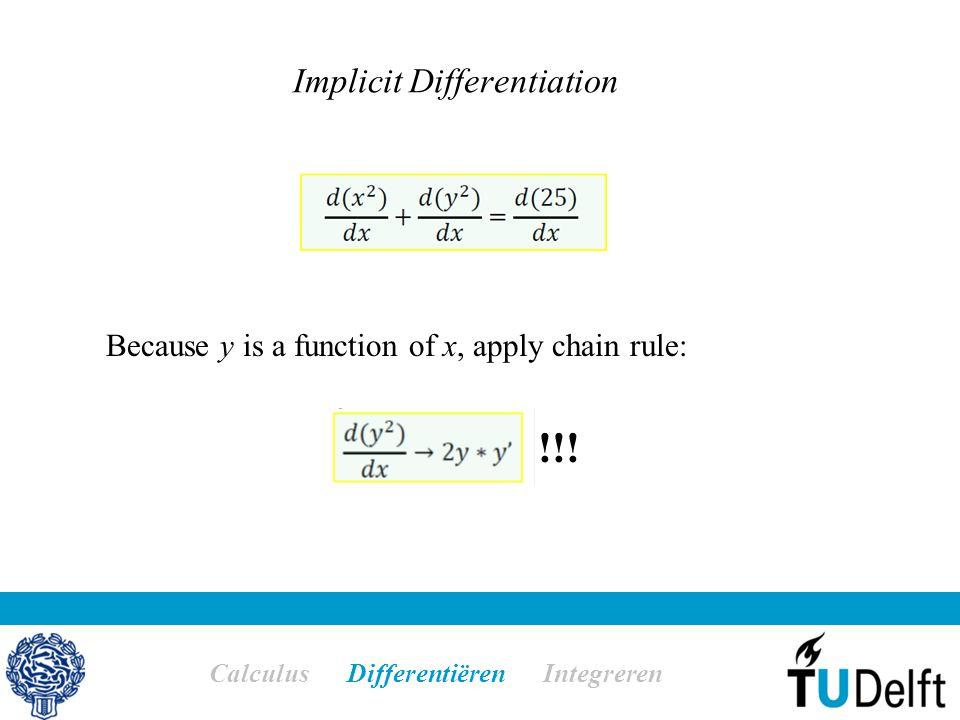 Implicit Differentiation Calculus Differentiëren Integreren !!.