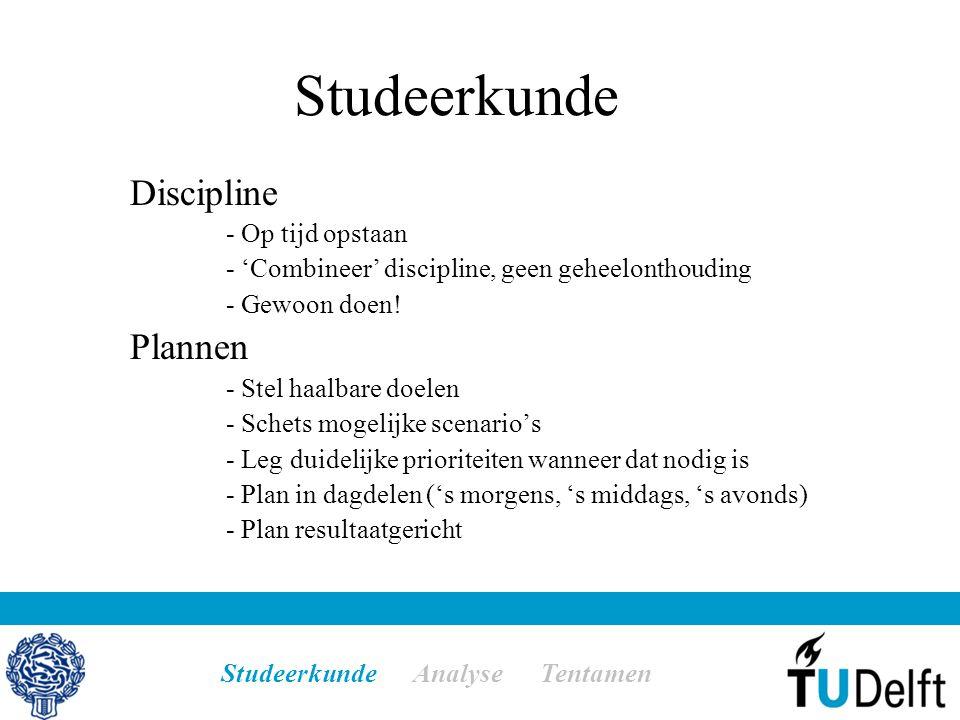 Studeerkunde Discipline - Op tijd opstaan - 'Combineer' discipline, geen geheelonthouding - Gewoon doen.