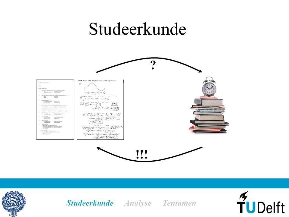 Studeerkunde !!! Studeerkunde Analyse Tentamen