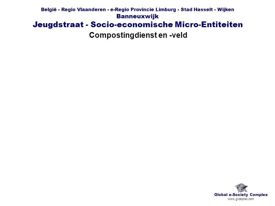 België - Regio Vlaanderen - e-Regio Provincie Limburg - Stad Hasselt - Wijken Banneuxwijk Jeugdstraat - Socio-economische Micro-Entiteiten Compostingdienst en -veld Global e-Society Complex www.globplex.com
