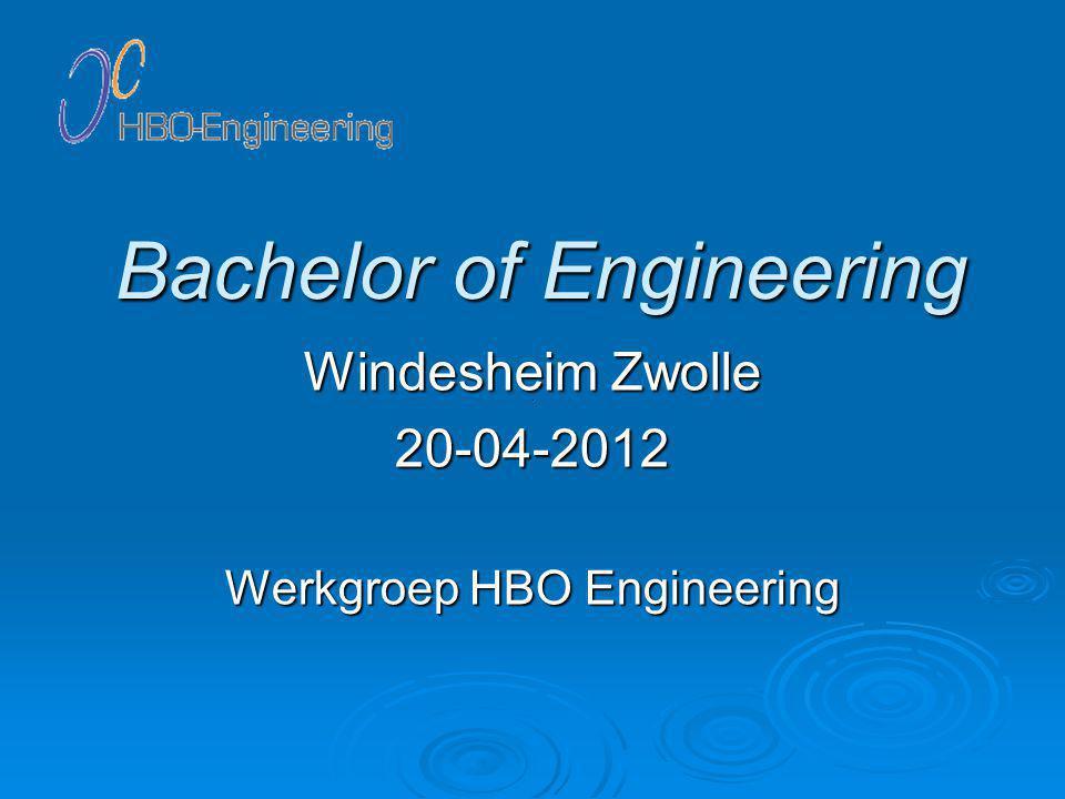 EUR-ACE Werkgroep HBO Engineering 22/3020-04-2012
