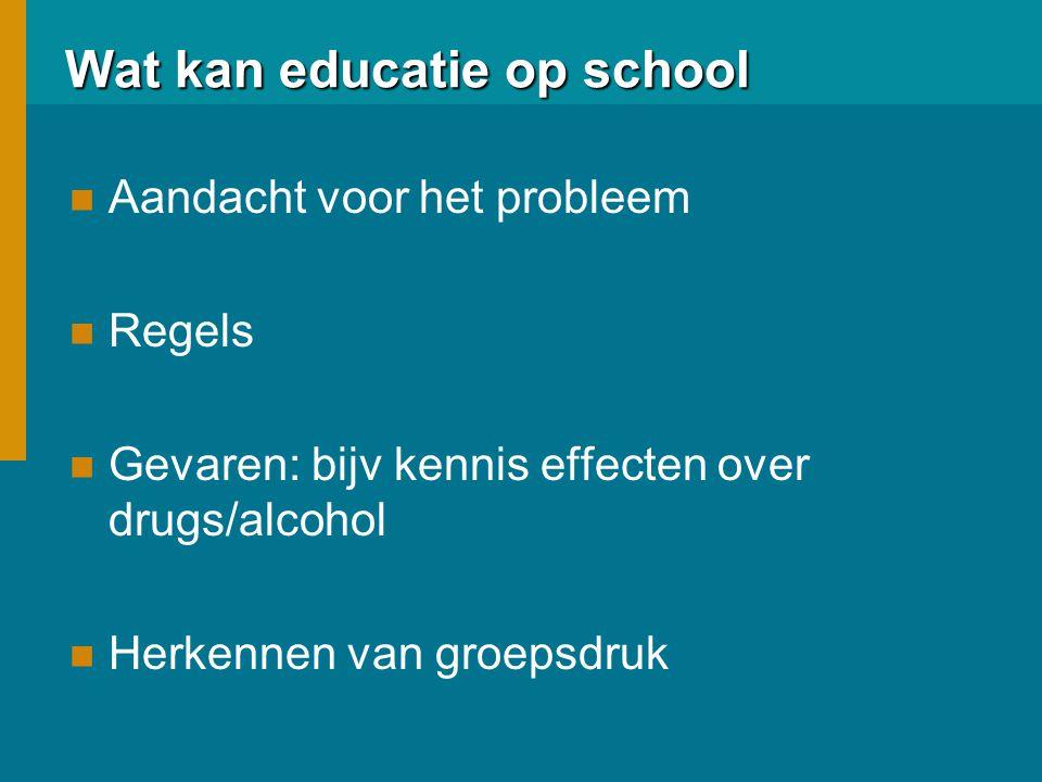 Wat kan educatie op school niet .