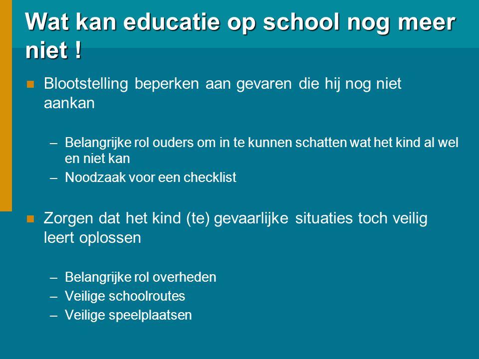 Wat kan educatie op school nog meer niet .