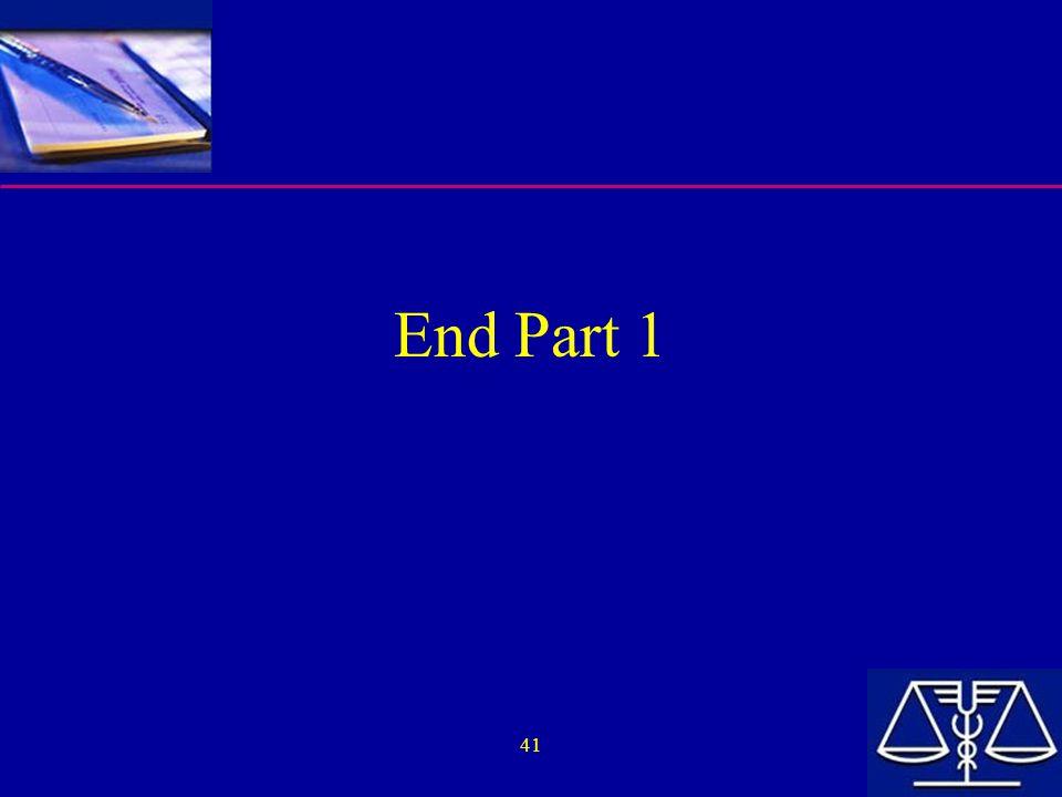 41 End Part 1
