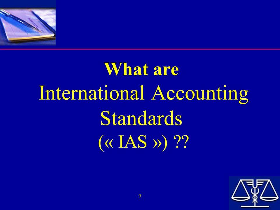 28  Definitie van activa en schulden –IAS Framework Definitie van Asset en Liability § 49: Asset is a resource...