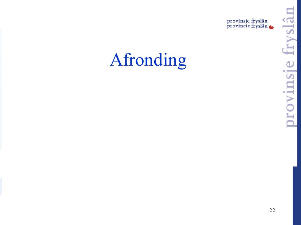 22 Afronding