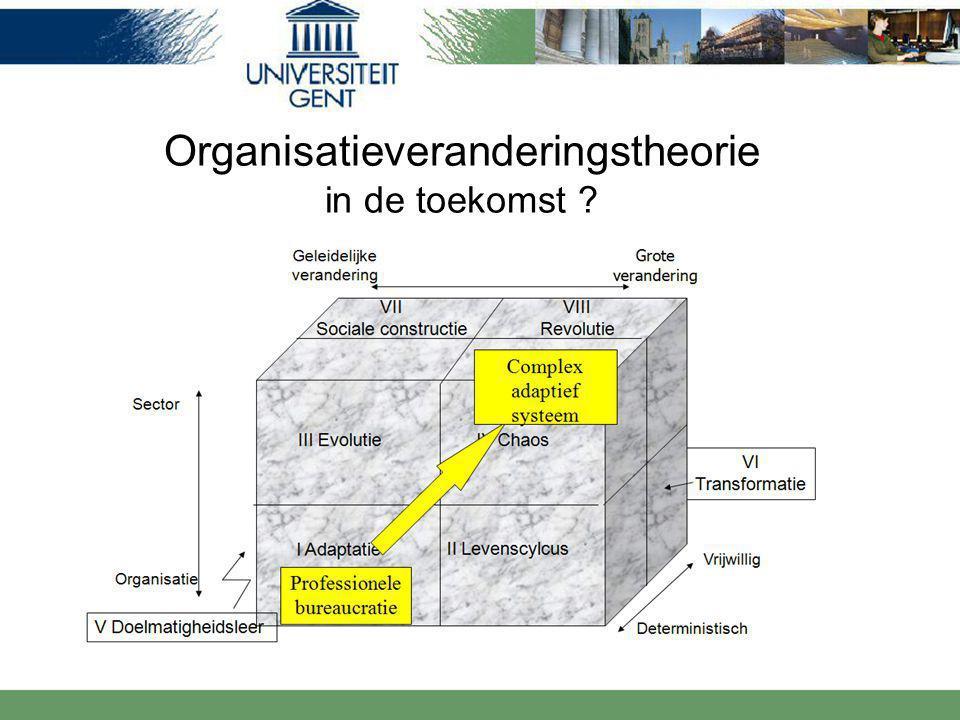 Organisatieveranderingstheorie in de toekomst ?