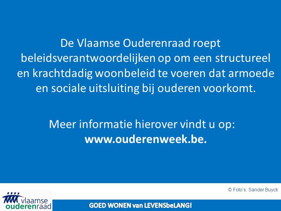 De Vlaamse Ouderenraad roept beleidsverantwoordelijken op om een structureel en krachtdadig woonbeleid te voeren dat armoede en sociale uitsluiting bij ouderen voorkomt.