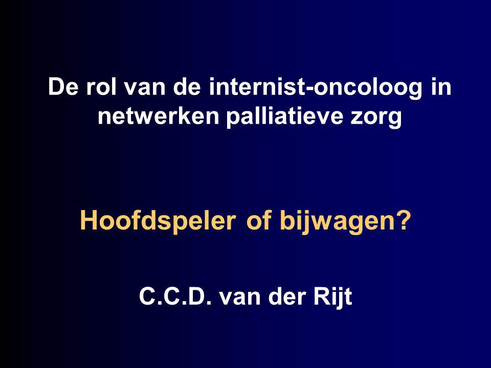 De rol van de internist-oncoloog in netwerken palliatieve zorg Hoofdspeler of bijwagen? C.C.D. van der Rijt